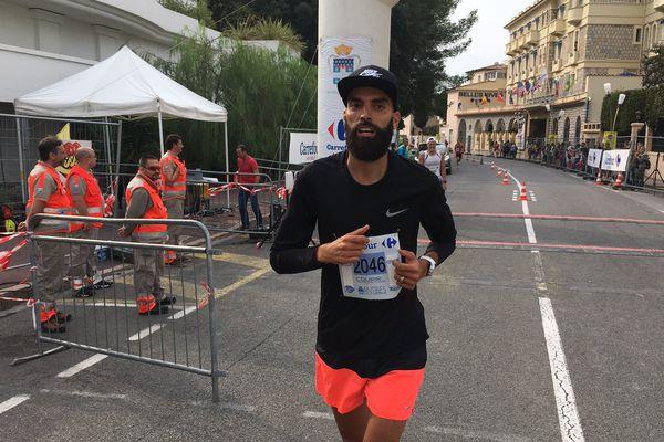 Karim Tahri premier coureur sur le 9,6km