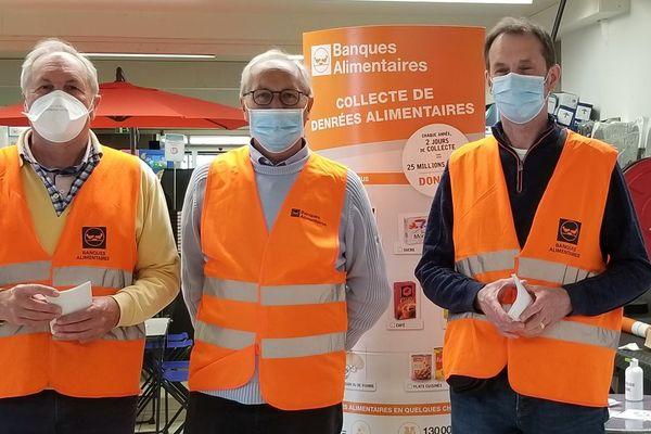 Dés bénévoles de la Banque alimentaire du Calvados, le week-end dernier à Saint-Contest.