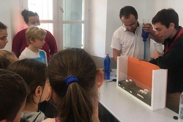 Corte : l'expérience d'une submersion marine a été menée par les étudiants du Master sciences de l'eau et environnement de l'Université de Corse.