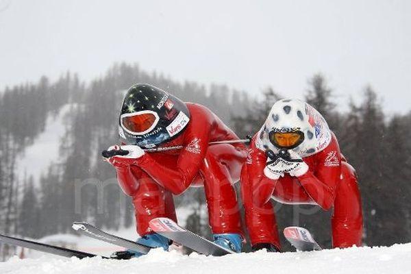 Bastien Montés et Karine Dubouchet, spécialistes du ski de vitesse
