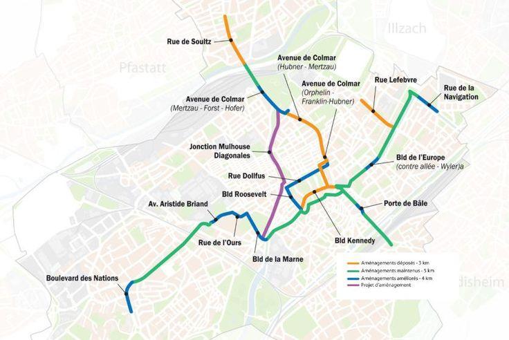 Carte Pistes Cyclables A Mulhouse Ce Qui Va Changer