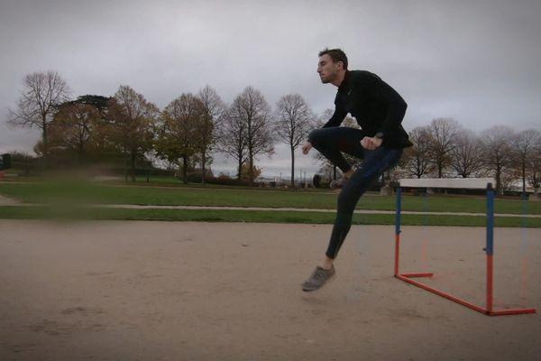 Le Normand Edgard Levard est un athlète de haut niveau. Mais il n'a pas le statut de professionnel. Il doit donc se débrouiller pour s'entraîner.