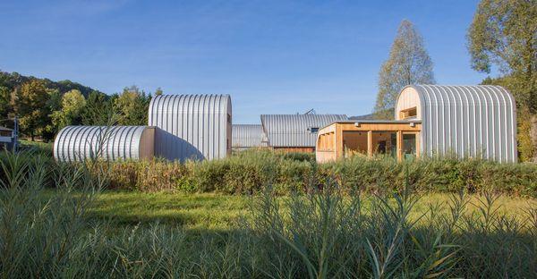 Cette insolite maison d'architecte peut accueillir jusqu'à 5 personnes.