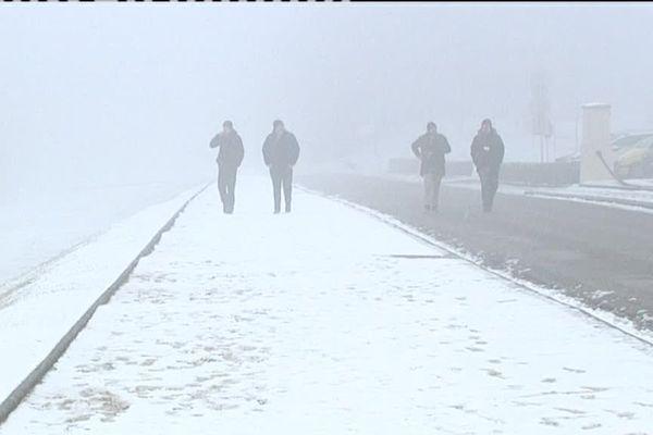 La nécropole nationale de Douaumont sous la neige