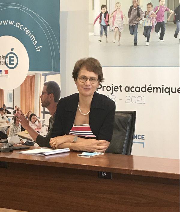 La rectrice de l'Académie de Reims, Agnès Walch Mension-Rigau