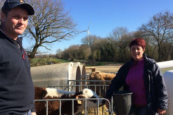 Didier et Murielle Potiron agriculteurs à Puceul