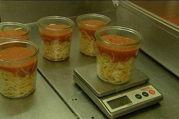 Des spaghetti à l'arrabiata 100% bio.