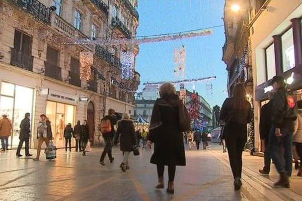 Le centre-ville est impacté par le mouvement des gilets jaunes. Les commerçants prévoient une baisse conséquente de leur chiffre d'affaires cette année. / Décembre 2018.