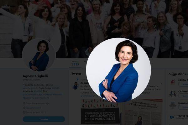 Compte Twitter d'Agnès Cerighelli.