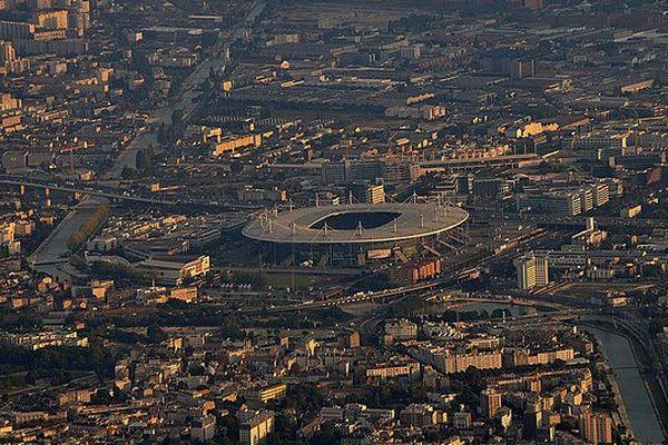 Une vue aérienne du Stade de France.