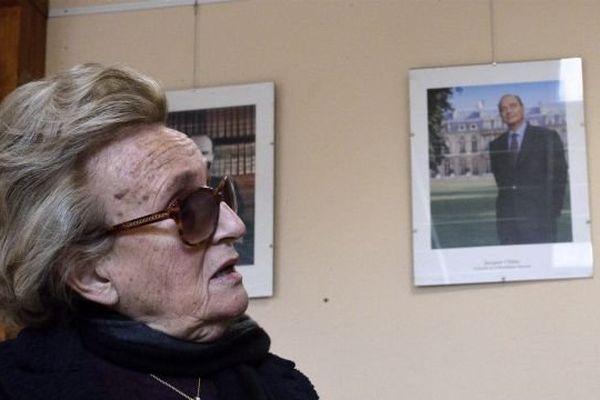 Bernadette Chirac à Sarran ( Corrèze) le 23 mars 2014
