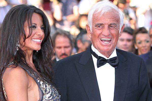 Barbara Gandolfi et Jean-Paul Belmondo au Festival de Cannes 2011.