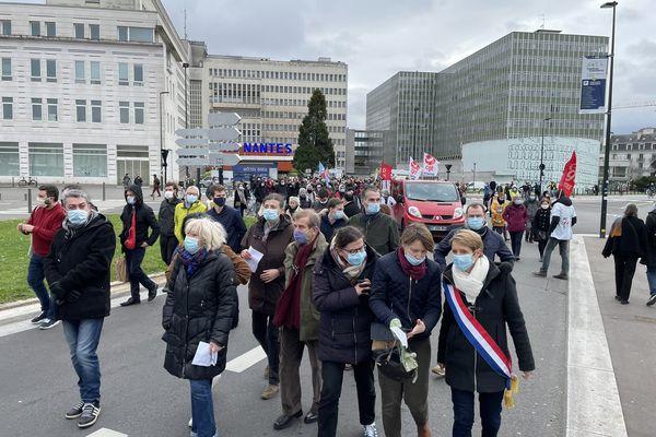 Manif contre le futur CHU de Nantes, le 6 février 2021