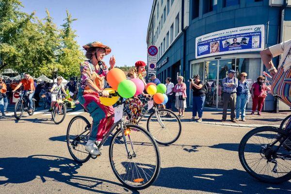 L'an dernier 400 cyclistes avaient participé à la grande parade dans les rues d'Epinal