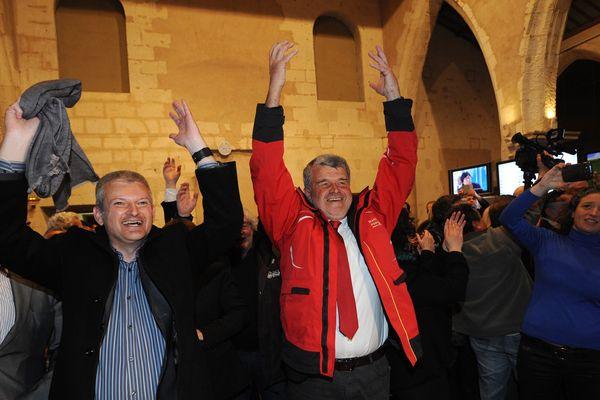 Jean-François Fountaine lors de sa victoire aux dernières élections municipales rochelaises.