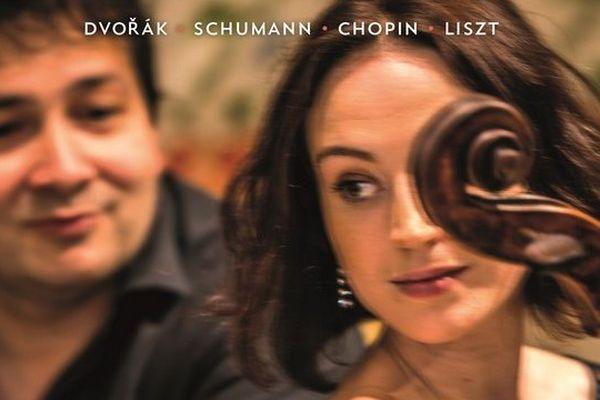"""Pochette de l'Album """"Romance Oubliée"""" d'Hermine Horiot (violoncelle) et Ferenc Vizi (piano)"""