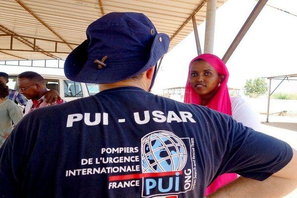 Une équipe des Pompiers de l'Urgence Internationale (PUI) à Djibouti en 2017
