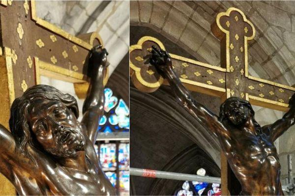 Le Christ de Girardon a retrouvé son éclat d'origine.