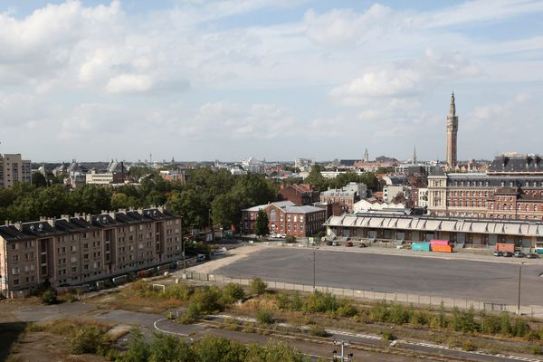 La friche Saint Sauveur s'étend sur 23 hectares en plein cœur de la ville.