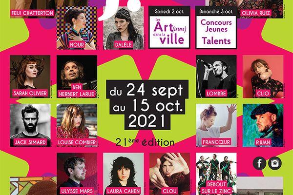 Affiche du Festival Jacques Brel 21ème édition