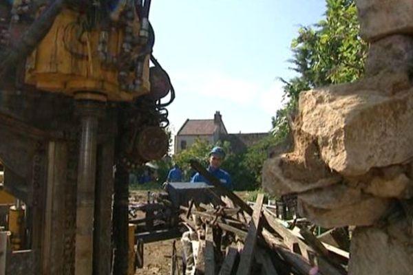 Des forages ont commencé au 4 rue Vaubenard pour reboucher les 4000 m2 de galeries souterraines.