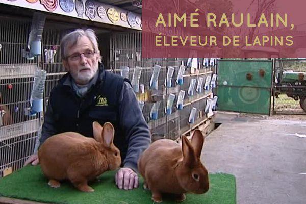 Aimé Raulain est éleveur de lapins depuis 1972 et multiple champion de France