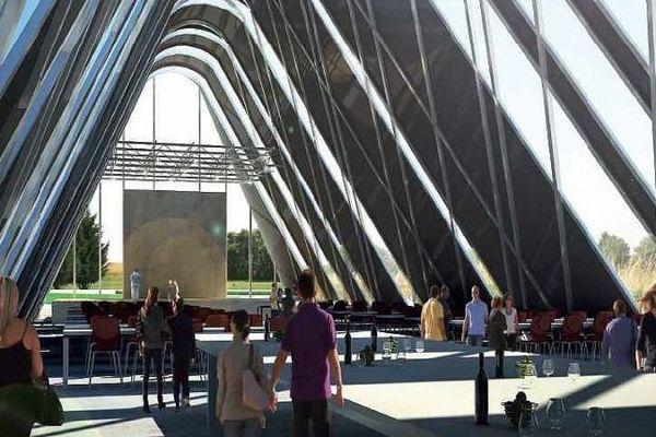 Une halle couverte accueillera diverses manifestations au sein de la cité des vins de Bourgogne à Beaune.