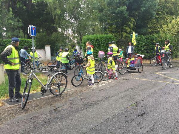 Quatre parcours étaient proposés pour cette expérimentation du vélobus.