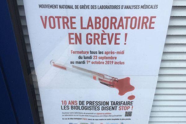 Les personnels des laboratoires d'analyses médicales sont en grève du 23 septembre au 1er octobre 2019.