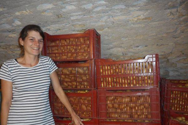Aurélie Giron, maraîchère depuis 7 ans à Manoncourt-en-Woëvre