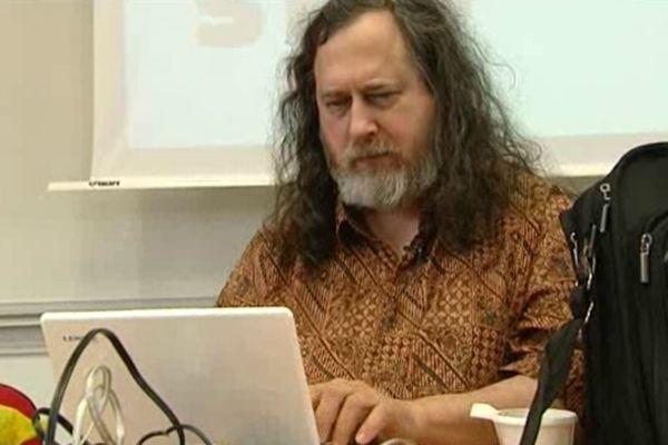 Richard Stallman à Niort le 19 mars 2013