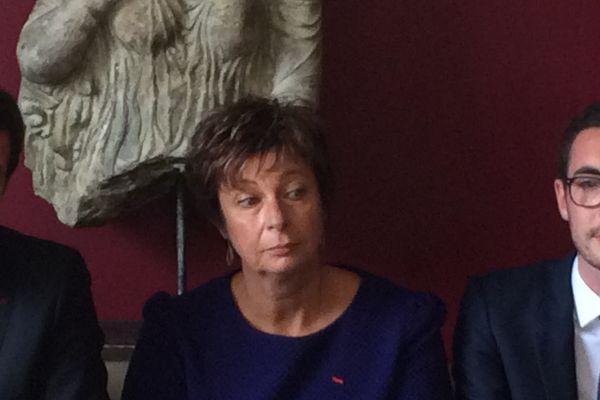 Martine Chaigneau, lors de la présentation de la liste LREM pour les sénatoriales, mercredi 30 août 2017, à Tours.