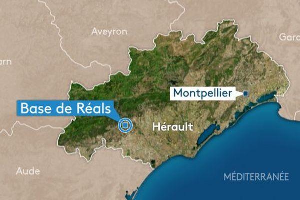 La Base de Réals est située sur la commune de Cessenon-sur-Orb (Hérault)