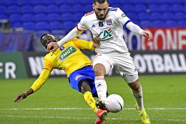 Rayan Cherki, pour l'OL auteur de deux buts samedi soir face au FCSM.