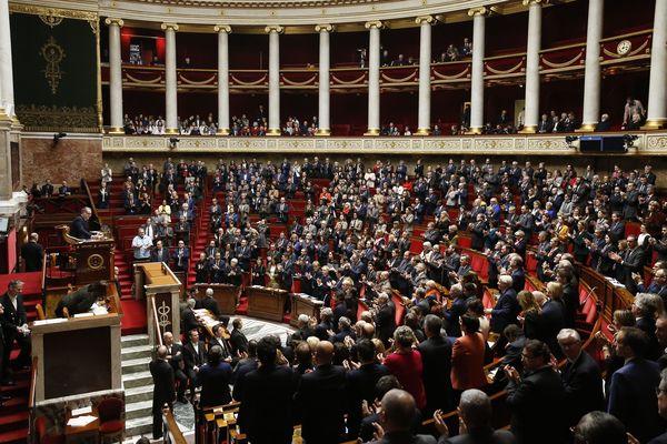 Séance de questions au gouvernement dans l'hémicycle de l'Assemblée nationale le 12 février 2019