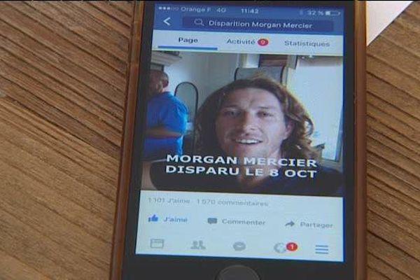 Morgan Mercier a disparu le 8 octobre dernier.