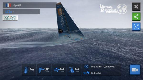 Le bateau dye70 au large du Cap de Bonne Espérance