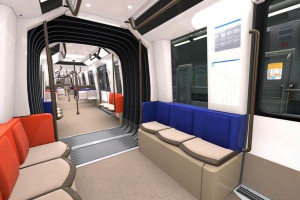 L'intérieur des futures rames de la ligne 14.