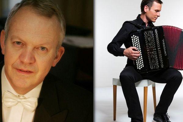 Bruno Membrey et l'accordéonniste Michel Glasko