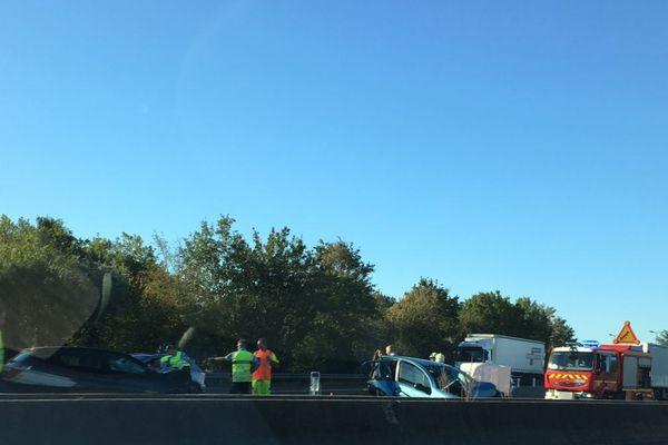Un accident s'est produit sur l'autoroute A6 dans le sens Paris-Lyon, jeudi 12 septembre 2019.