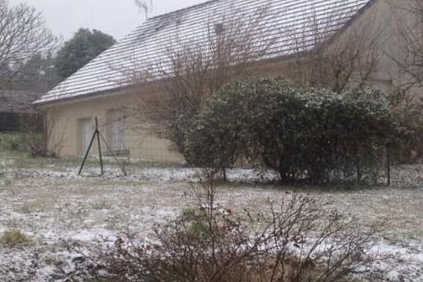 Neige à Eyburie (Corrèze), le 22.01.2019