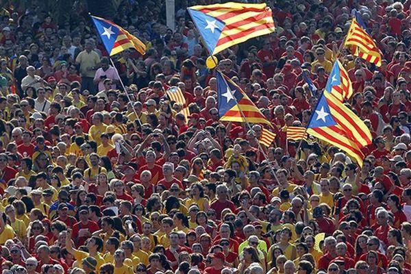 La diada de Catalogne le 11 septembre 2014