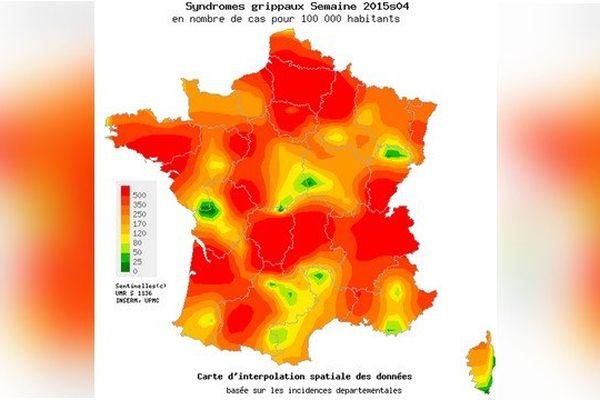 L'épidémie de grippe saisonnière est désormais en plein essor en France métropolitaine.