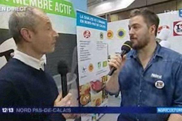 Florent Ladeyn en duplex du Salon de l'Agriculture ce midi sur France 3 Nord Pas-de-Calais