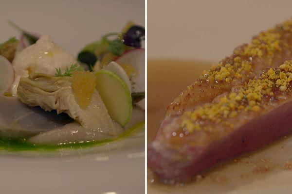 artichaut/anguille fumée/oeufs de brochet - canard/miel : Comment résister à ces assiettes ?