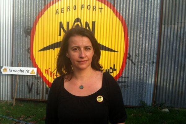 Emmenés par l'ancienne ministre écologiste Cécile Duflot, les élus EELV se sont rendus sur le site du futur aéroport pour re-dire non au projet.