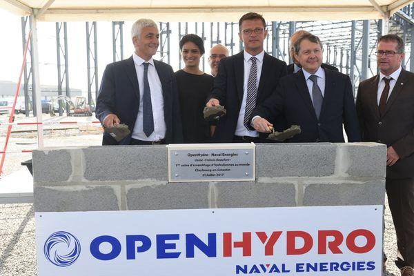 """Pose de la """"première pierre"""" ce vendredi de l'usine d'hydroliennes à Cherbourg"""