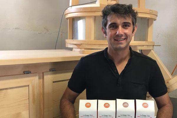 Franck Dumoutier produit ses propres pâtes depuis 2018.