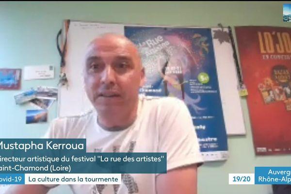 """Mustapha Kerroua, Directeur artistique du festival """"La rue des artistes"""""""