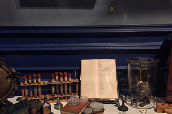 Le bureau de Calmette et ses instruments